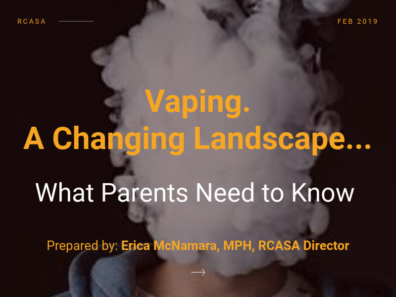 RCASA Director Visited Coolidge PTO for Vaping Prevention on 3/7/19